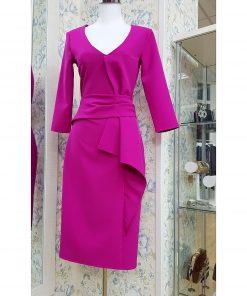 Vestido color buganvilla.